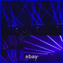 100MW New Blue Color 6 Eye Beam Linear Bar Laser Light Moving Head Stage For DJ