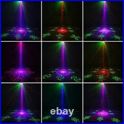128 Patterns DJ Laser Projector Stage Lighting Disco Club Xmas Party Show 12W
