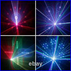 12 Effect RGB Laser Beam Gobo 3D Scan DMX DJ Party Show Stage Projector Lighting