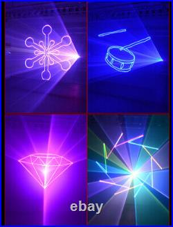 1W RGB Animation Laser Projector Light DMX for DJ new year Party Stage Lighting