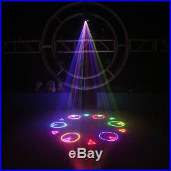 1W RGB Animation Scan Laser Projector Lights DMX SD Card DJ Party Stage Lighting