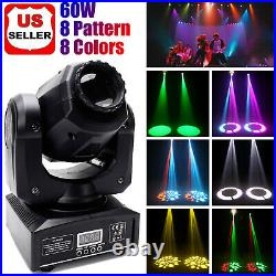 1/8 Pack 60W Moving Head Beam Lights DMX RGBW LED Gobo DJ Disco Party Stage Show