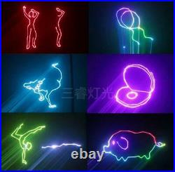 2With3W RGB laser with ILDA dj laser lights/disco light/stage Projector For party