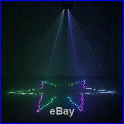 2 Big Lens RGB Beam Projector Laser Light DMX Home Party Club DJ Stage Lighting