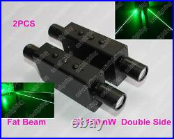 2xDouble Head Fat Beam Handheld Laser Light for Stage Laser Man Show Green 532nm