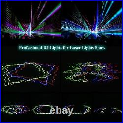 300 Patterns RGBY Stage Light 4 Laser Beam LED Strobe Projector DMX Party Disco