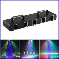 30W RGBYC Laser 100 Patterns Beam Stage Light DMX Disco Party DJ Projector Light