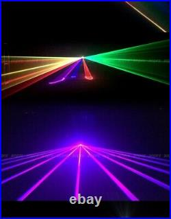 3W ILDA RGB Fullcolor Animation Scan DMX DJ Party Stage Laser Projector Lights