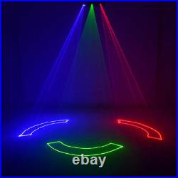 3 Lens DMX 500mW RGB Laser Animation Scan Projector DJ Party Show Stage Lighting