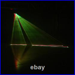 3 Lens RGB Laser Scan Beam Light Projector Disco DJ Party effect Stage Lighting