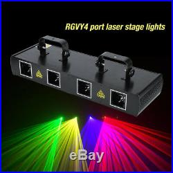 460mW 4 Lens Red Green Purple Yellow DJ Party Stage Show Laser Light 7CH DMX512