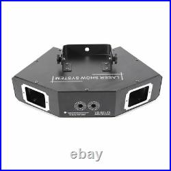 4 Lens 500mw RGB DMX Laser Projector Stage Lighting Show Disco Dj Party Effects