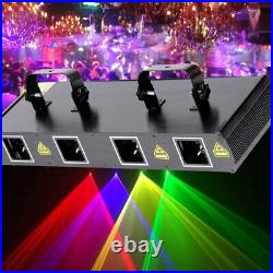 4 Lens RGBY 460mW DMX Laser Stage Light Club Party Lighting Projector Disco Show