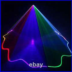 500mW RGB DMX Colorful Beam Projector Sound Scan Laser Music Scanner Light Stage