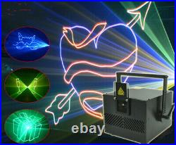 5W SD card ILDA RGB color Animation Scan DJ Party Stage Laser Projector Light