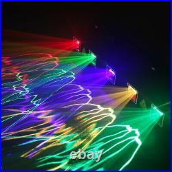 5 Lens 5 Beam RGBYC DJ Laser Stage Light Disco Show DMX Projector Party Lighting