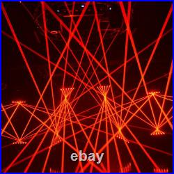6 Eyes Red Laser Light DMX512 Beam Projector Moving Head Stage Light Effect USA