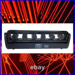 6 Eyes Red Moving Head Spider Beam/Laser Projector DMX DJ Show Stage Lighting