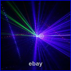6 Lens RGB Beam Ray Sky Laser Projector Lighting DMX Party DJ Show Stage Lights