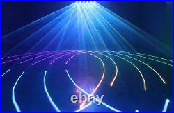 6 heads 6W RGB laser light big animation stage light for Disco party 6000mW