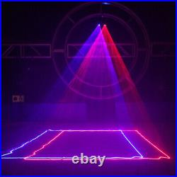 700mW 2 RB Lens DMX DJ Beam Laser Stage Light Club Party Lighting Projector Show