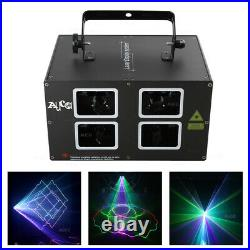 AUCD 4 Lens Scan DMX RGB Beem Laser Projector Disco DJ Party Show Stage Lighting