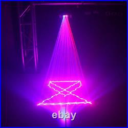 AUCD Beam Scan RB Laser Lights 11CH DMX DJ Party Show Stage Projector Lighting