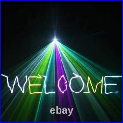Animation Laser Projector RGB Stage Light Scanner DMX512 Party illumination Show