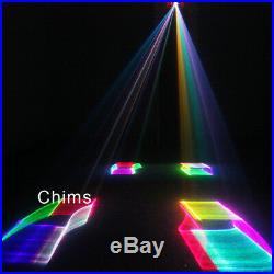 Chims Stage Laser Lights DMX 512 Control RGB 400mW 3D Music Party Professional