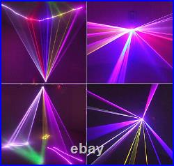 DMX 3D Effect 1050mW Red Green Blue Full color Laser Christmas Stage Lighting