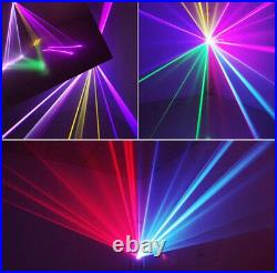 DMX 3D Effect 1050mW Red Green Blue Full color Laser Christmas Stage Lighting yz
