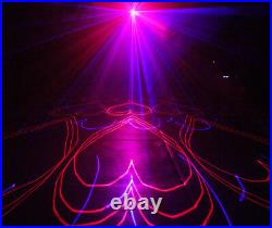 DMX 500mW full color animation laser Stage Light Scanner DJ Party Show Xmas Ligh