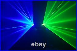Dual lens 400mW Green+Blue home party disco dj laser stage light show projector