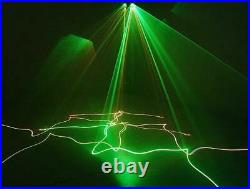 Full Color 4 Heads 500mW DMX512 RGB Laser Beam Line Scan DJ Disco Stage light