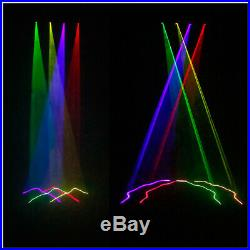 Laser Light 460mW 4 Lens 4 Beam RGBY DJ Stage Lighting Party Show DMX Projector