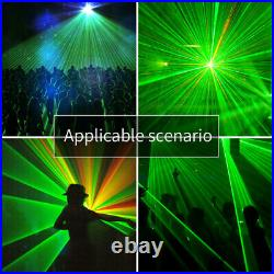 Laser Light 460mW 4 Lens 4 Beam RGPY DJ Stage Lighting Party Show DMX Projector