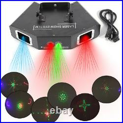 Laser Light 500mW 4 Lens 4 Beam RGB DJ Stage Lighting Party Show DMX Projector