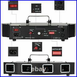 Laser Stage Light 4 Lens Projector 4 Beam RGBY 11CH DJ DMX Disco Show Home US