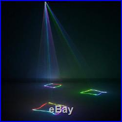 Mini Remote 400mW RGB DMX Ray Scan Projector Laser DJ Party Show Stage Lighting