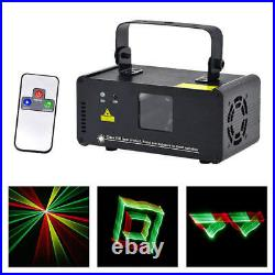 Portable 3D RGY Colorful Beam Laser Projector DMX 8CH DJ Party Disco Stage Light