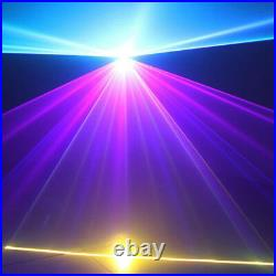RGBWA 1W DMX Full Color Animation Laser Light DJ Stage Effect Party Light 1000mW