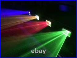 RGBY 460mW Laser Light Disco Party Light Stage Lighting Party Show DMX Projector
