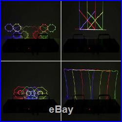 RGBY Laser Stage Lighting 4 Lens Beam 460mw Projector Pattern DMX Party DJ Light