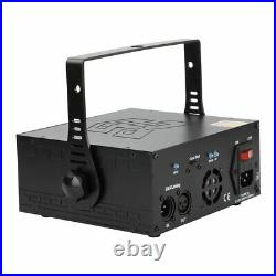 RGB Animation Laser Projector Light DMX Full Color DJ Party Xmas Stage Lighting