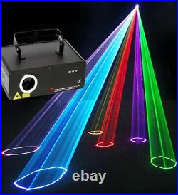 RGB DMX Full Color Animation Laser Beam Scan Stage Effect 500mW DJ Party Light