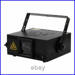 RGB DMX Full Color Animation Laser Light Projector DJ Stage Lighting Party Xmas