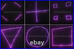 Remote Laser Stage Light Purple Ray Line Scan Powerful DJ Bar Disco stage Show