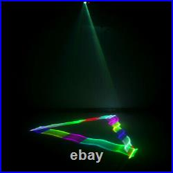 Remote RGB 3D Projector Effect Scan DMX DJ Disco Party Laser Show Stage Lights