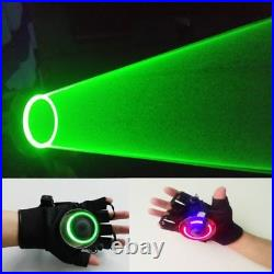 Rotatable Laser Lighting Gloves DJ Club Dancer Stage Disco Party Show Glove Prop