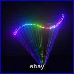 SD TF Card Animation Scan RGB Projector Remote DMX DJ Party Stage Laser Lighting